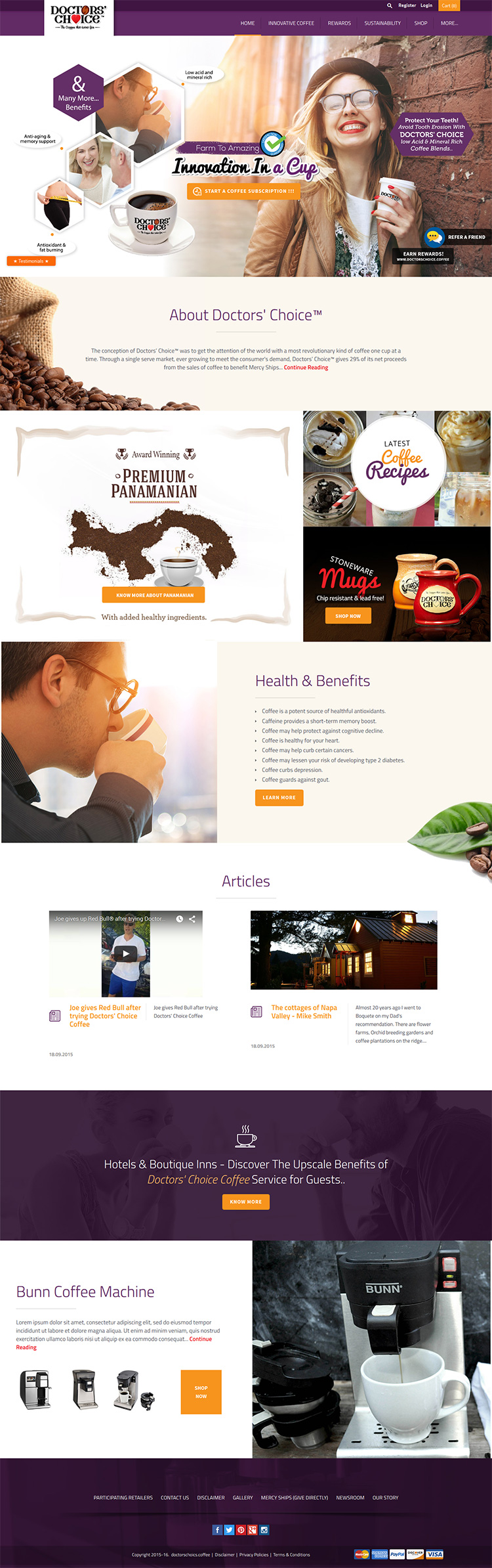 Ecommerce Shopify Store Sell Coffee