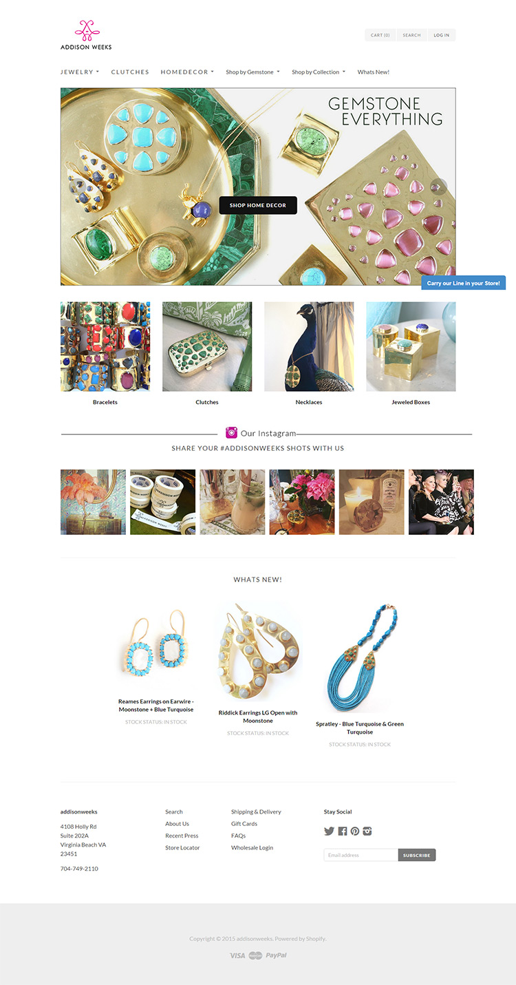 Shopify Jewellery ecommerce Store