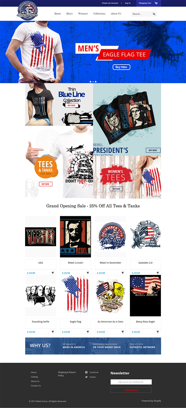 Custom Design Tshirt Ecommerce Shopify Store