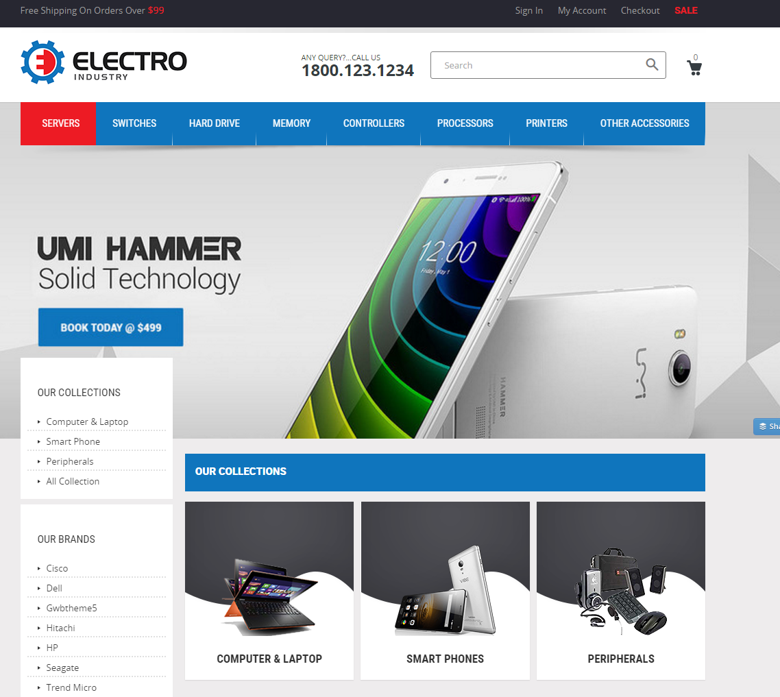 Shopify Theme for Electronic Gadgets