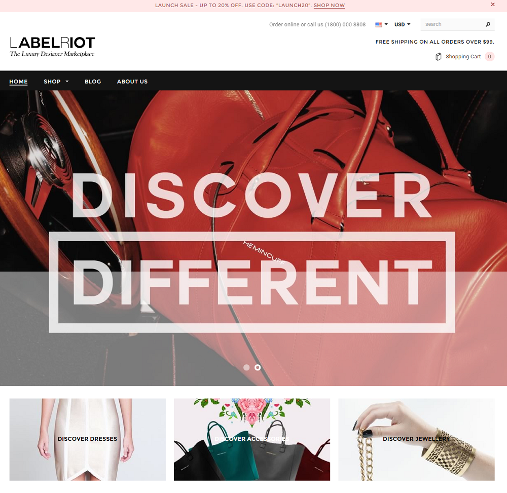 Shopify Theme for Fashion