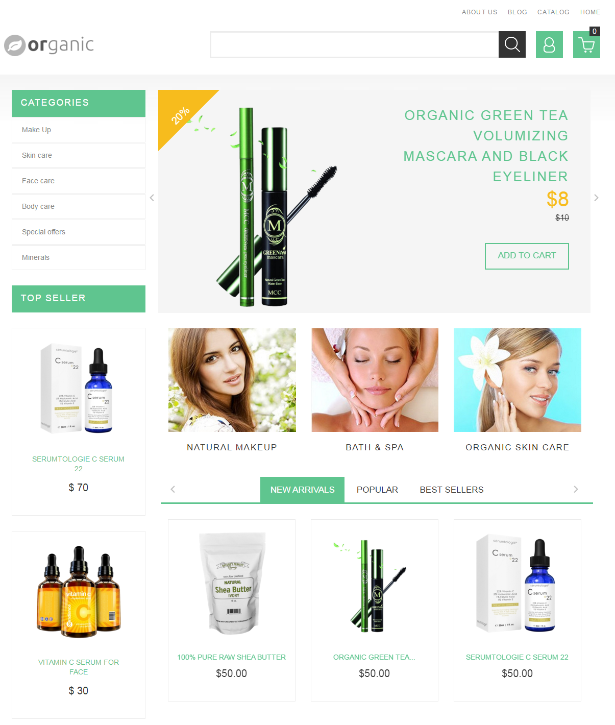 Shopify Theme for Organic Products