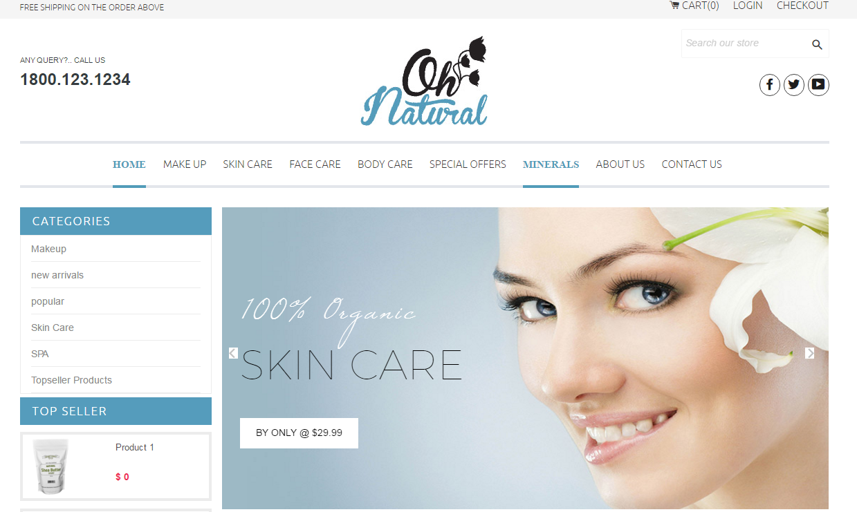 Shopify Theme for Skin Care
