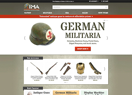 International Military Antiques Magento store
