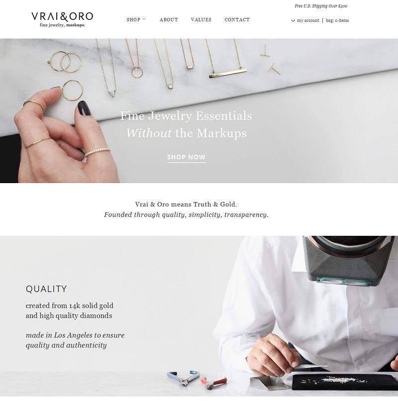 VRAI & ORO Online Store