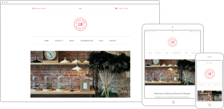 Editions Shopify Theme