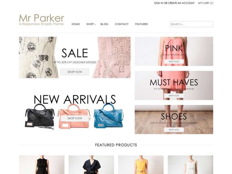 Mr Parker Shopify Theme