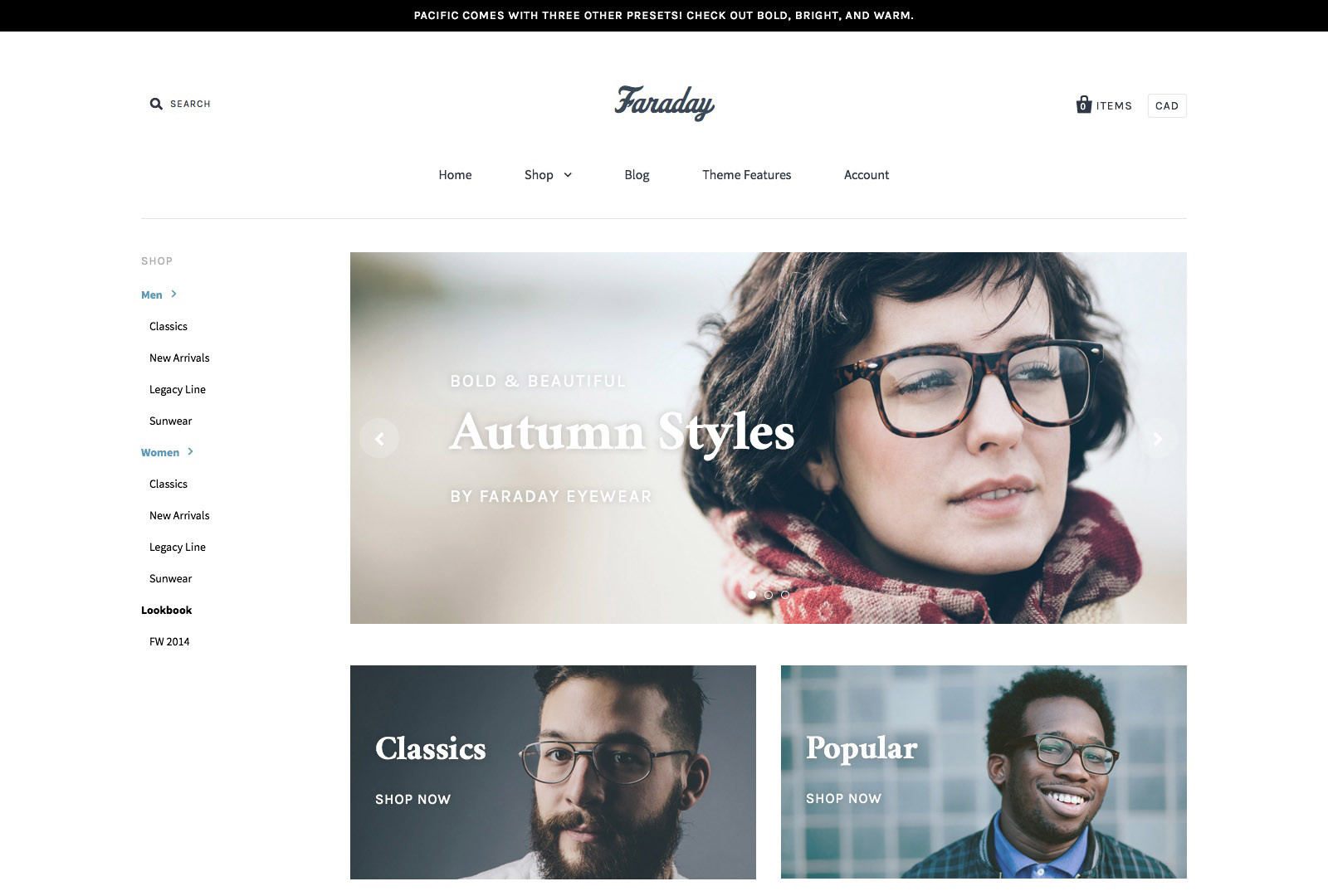 Pacific Shopify Theme