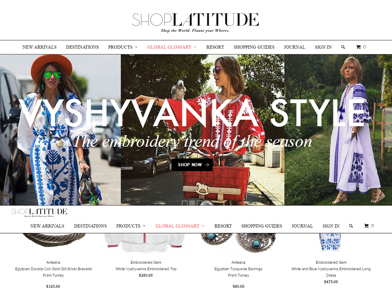 Shop Latitude Shopify store