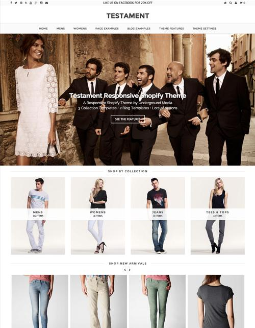 Testament Shopify Theme