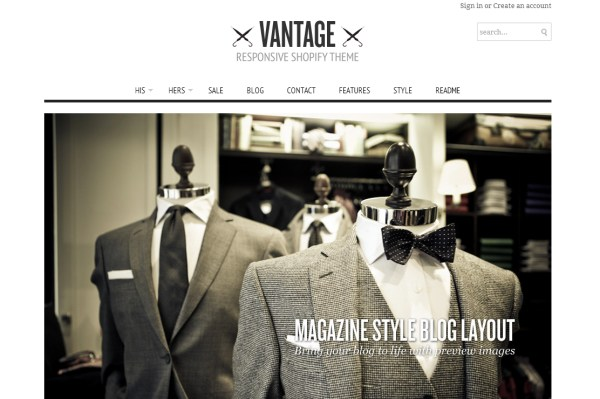 Vantage Shopify Theme