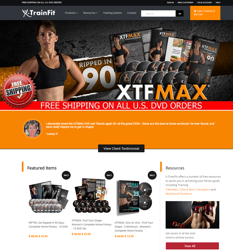 X-train Fit Shopify store