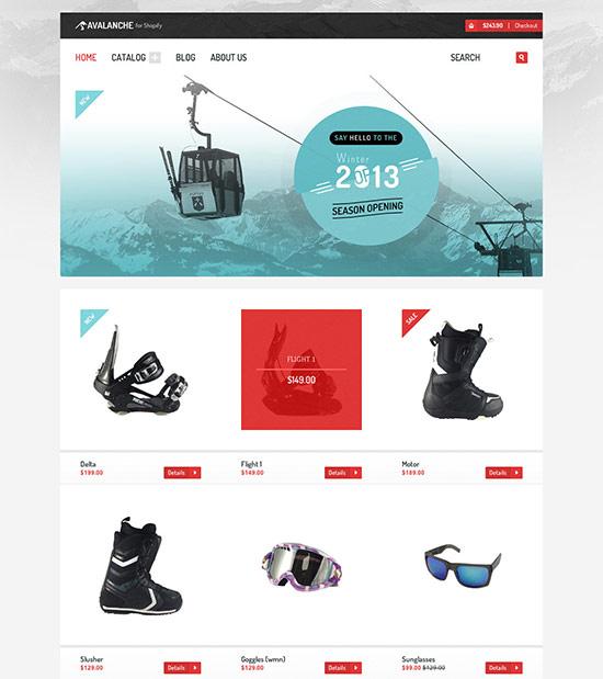 Avalanche Shopify Premium Template