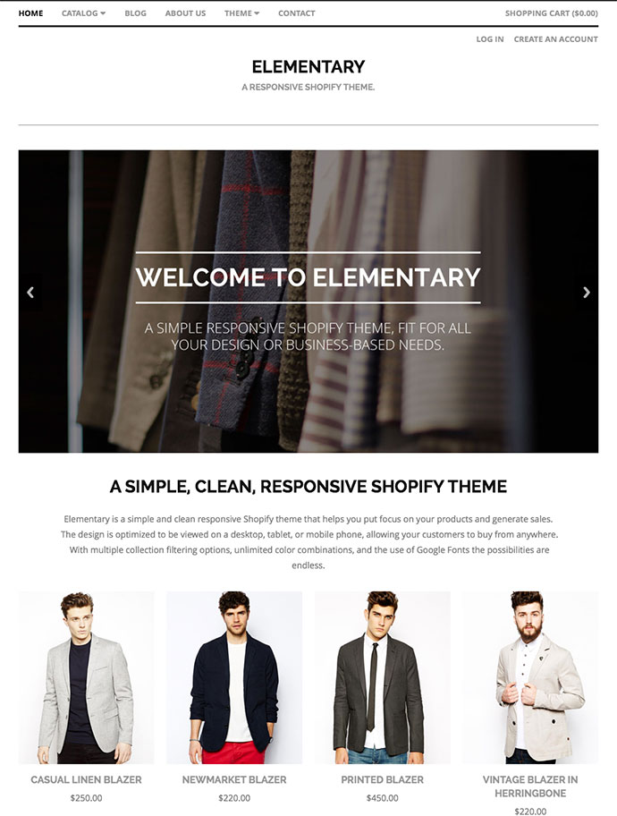 Elementary Shopify Premium Template