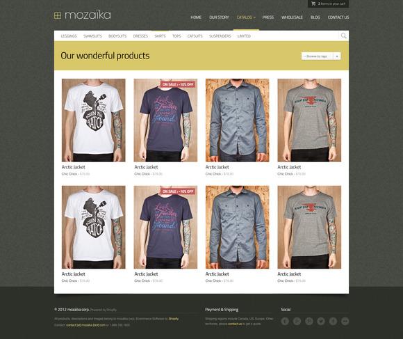 Mozaika Shopify Premium Theme