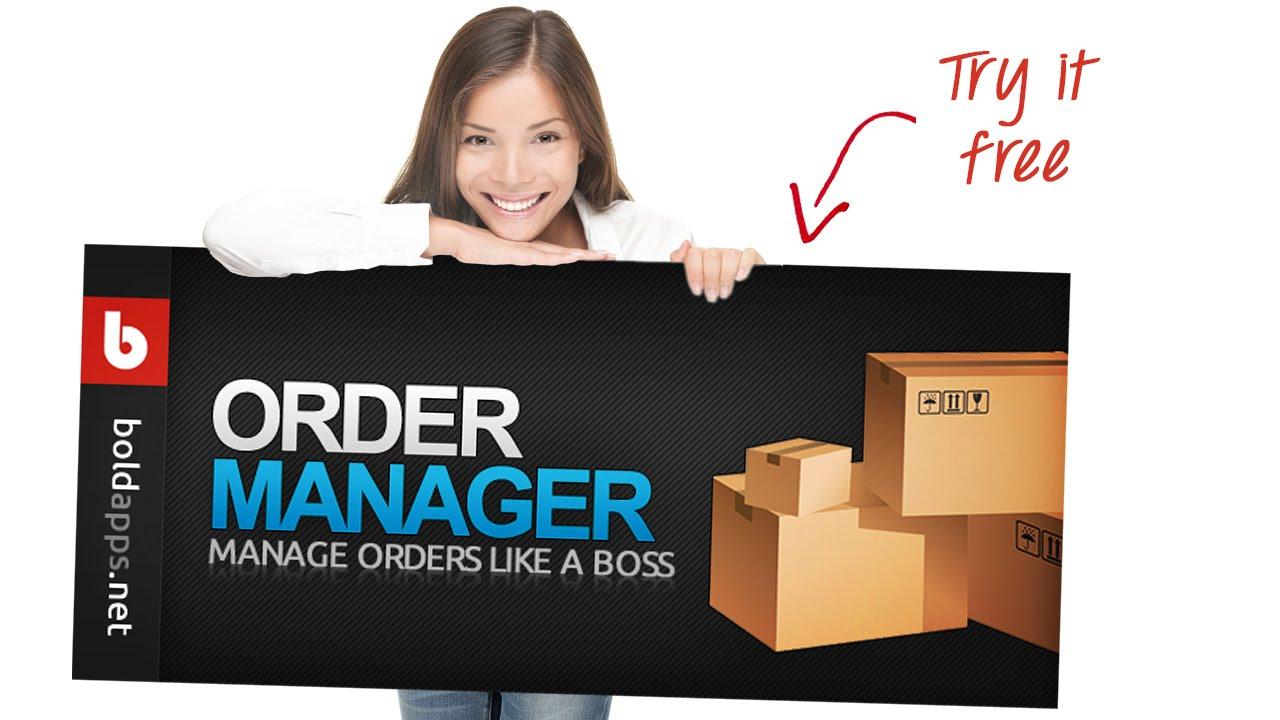 Order Manager Shopify Bold App