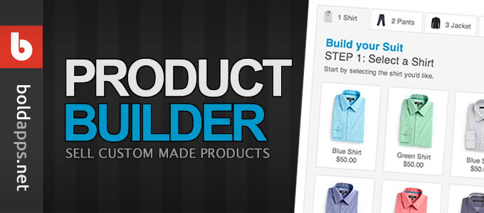 Product Builder Shopify Bold App