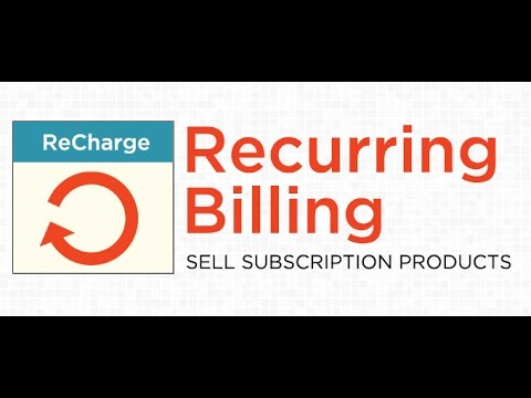 Recurring Billing Shopify Recharge App