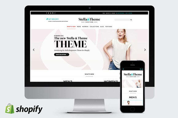 Top 40 Premium Shopify Templates for eCommerce Web Stores ...
