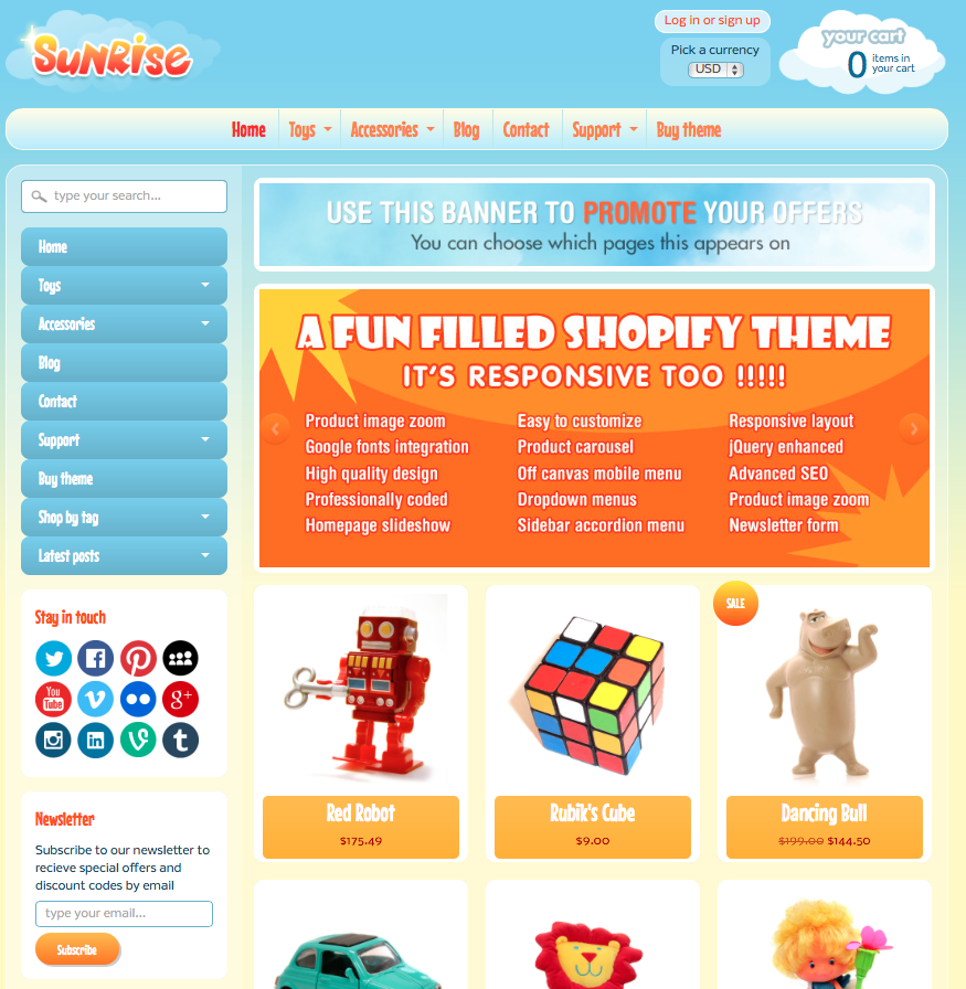 Sunrise Shopify Premium Template