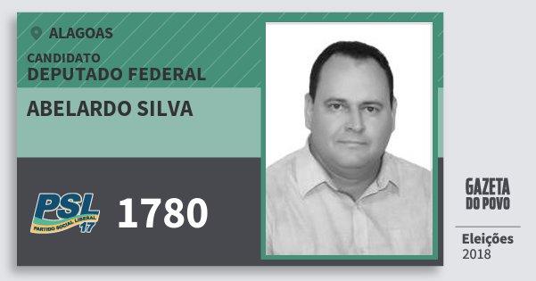 Santinho Abelardo Silva 1780 (PSL) Deputado Federal | Alagoas | Eleições 2018