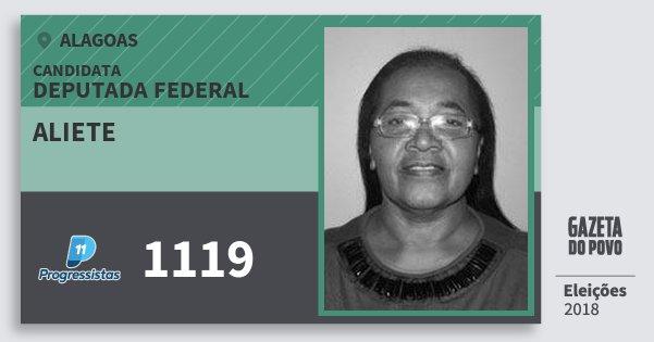 Santinho Aliete 1119 (PP) Deputado Federal   Alagoas   Eleições 2018