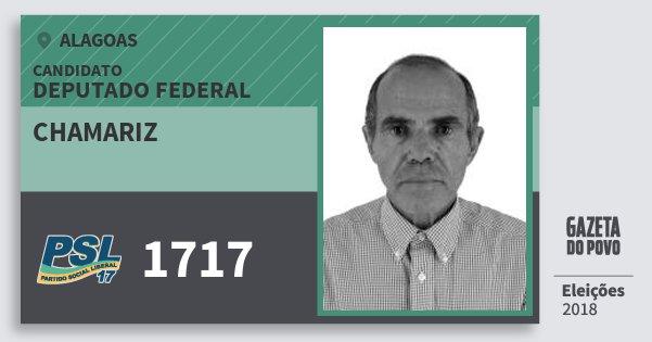 Santinho Chamariz 1717 (PSL) Deputado Federal   Alagoas   Eleições 2018