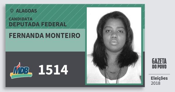 Santinho Fernanda Monteiro 1514 (MDB) Deputado Federal   Alagoas   Eleições 2018
