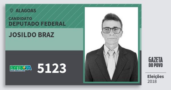 Santinho Josildo Braz 5123 (PATRI) Deputado Federal | Alagoas | Eleições 2018