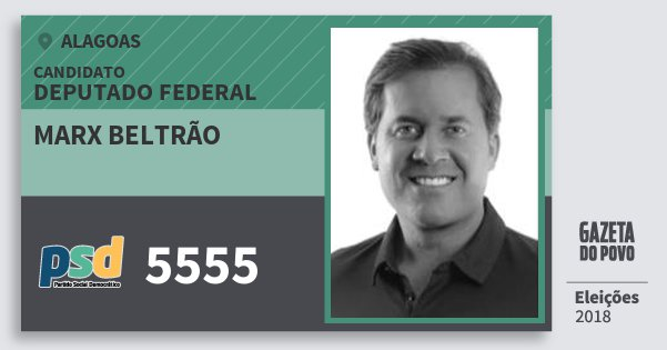 Santinho Marx Beltrão 5555 (PSD) Deputado Federal   Alagoas   Eleições 2018