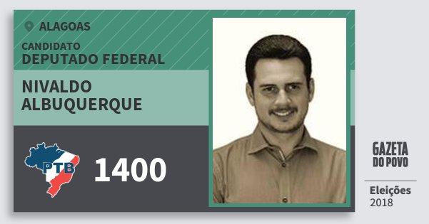 Santinho Nivaldo Albuquerque 1400 (PTB) Deputado Federal | Alagoas | Eleições 2018