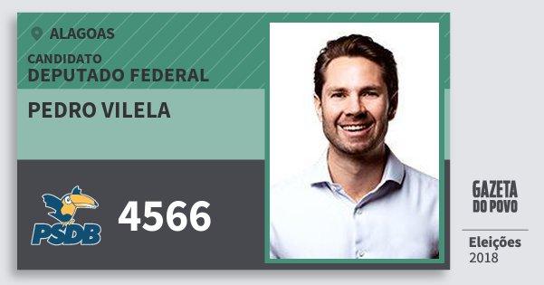 Santinho Pedro Vilela 4566 (PSDB) Deputado Federal | Alagoas | Eleições 2018
