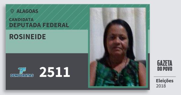 Santinho Rosineide 2511 (DEM) Deputado Federal | Alagoas | Eleições 2018
