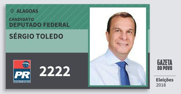 Santinho Sérgio Toledo 2222 (PR) Deputado Federal   Alagoas   Eleições 2018