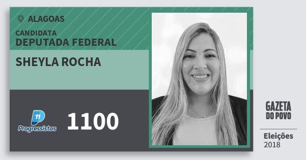 Santinho Sheyla Rocha 1100 (PP) Deputado Federal | Alagoas | Eleições 2018