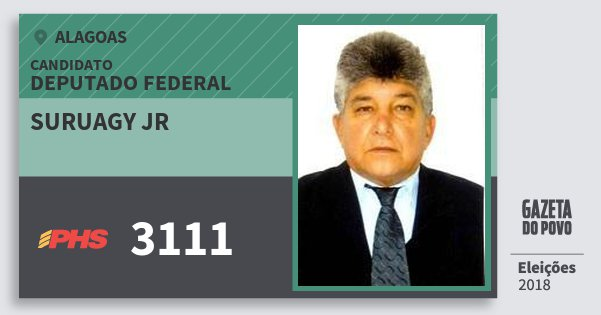 Santinho Suruagy Jr 3111 (PHS) Deputado Federal | Alagoas | Eleições 2018
