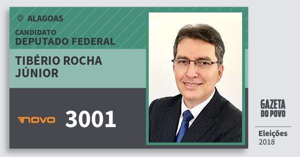 Santinho Tibério Rocha Júnior 3001 (NOVO) Deputado Federal | Alagoas | Eleições 2018