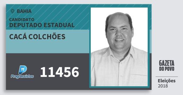 Santinho Cacá Colchões 11456 (PP) Deputado Estadual   Bahia   Eleições 2018