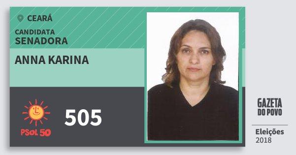 Santinho Anna Karina 505 (PSOL) Senador | Ceará | Eleições 2018