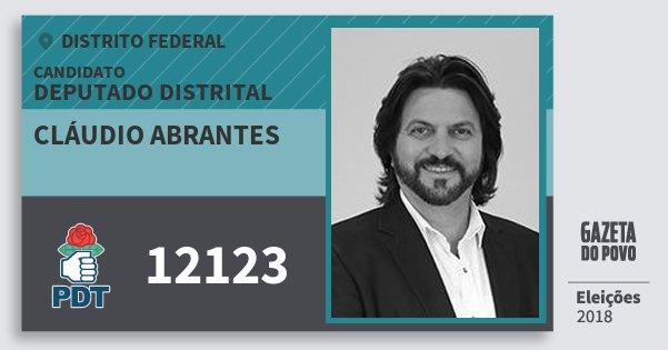 Santinho Cláudio Abrantes 12123 (PDT) Deputado Distrital | Distrito Federal | Eleições 2018