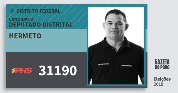 Santinho Hermeto 31190 (PHS) Deputado Distrital | Distrito Federal | Eleições 2018