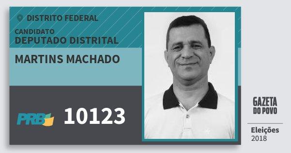 Santinho Martins Machado 10123 (PRB) Deputado Distrital | Distrito Federal | Eleições 2018