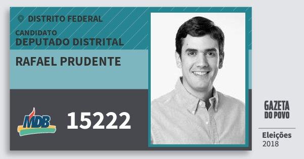 Santinho Rafael Prudente 15222 (MDB) Deputado Distrital | Distrito Federal | Eleições 2018