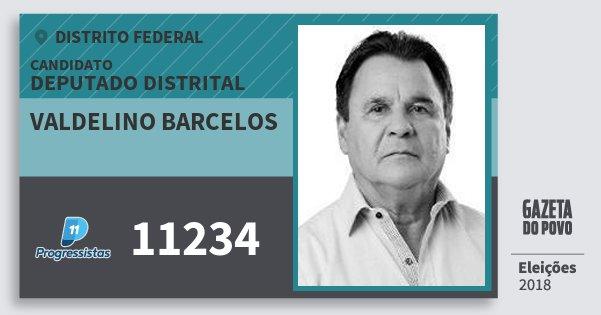 Santinho Valdelino Barcelos 11234 (PP) Deputado Distrital | Distrito Federal | Eleições 2018