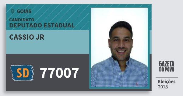 Santinho Cassio Jr 77007 (SOLIDARIEDADE) Deputado Estadual   Goiás   Eleições 2018