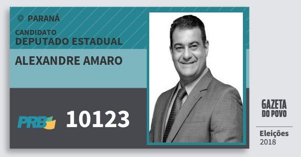 Santinho Alexandre Amaro 10123 (PRB) Deputado Estadual | Paraná | Eleições 2018
