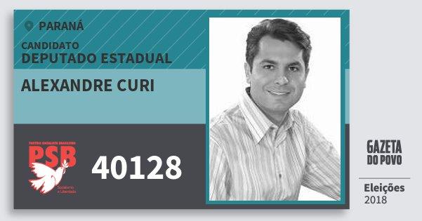 Santinho Alexandre Curi 40128 (PSB) Deputado Estadual | Paraná | Eleições 2018
