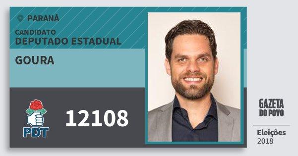 Santinho Goura 12108 (PDT) Deputado Estadual | Paraná | Eleições 2018