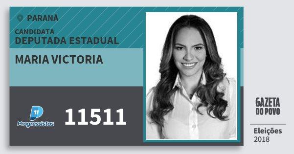 Santinho Maria Victoria 11511 (PP) Deputado Estadual | Paraná | Eleições 2018