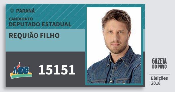 Santinho Requião Filho 15151 (MDB) Deputado Estadual   Paraná   Eleições 2018